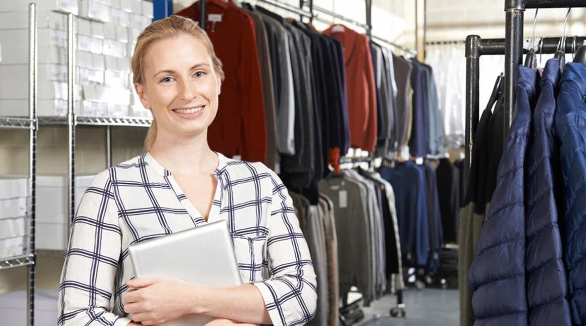 Woman working in retail